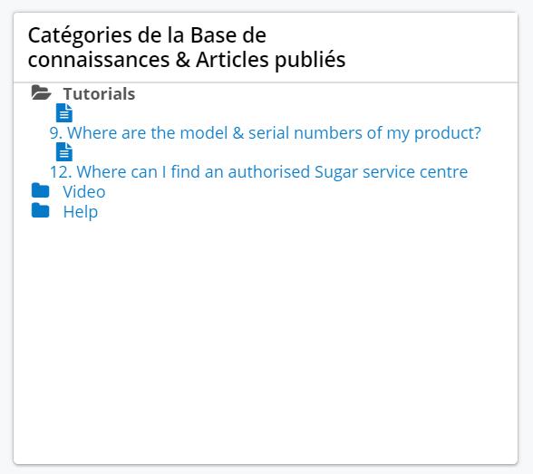 Nouveau dashlet dédié à l'arborescence sur le nouvel portail Sugar 9.2