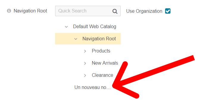 Démonstration d'un paramétrage de web catalog