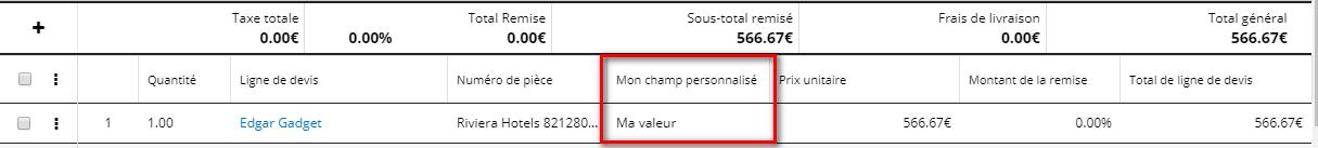 Champ personnalisé SugarCRM 8 2