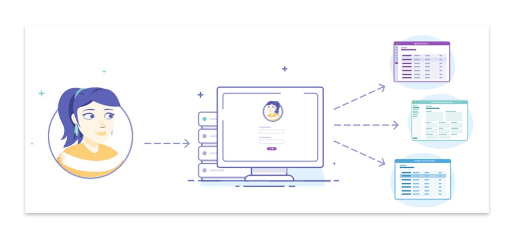 Illustration d'une utilisatrice et des ses données