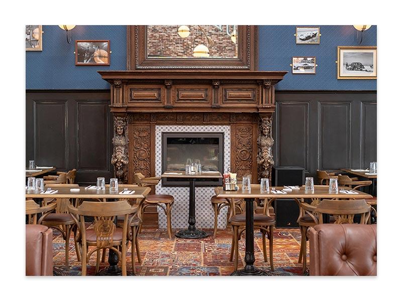 Salle de restaurant Au Bureau à Rouen
