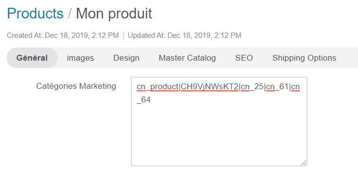 Catégorie marketing d'un produit