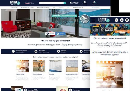 Site web Film pour vitre, homepage