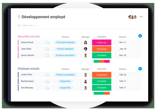 board monday.com développement employé